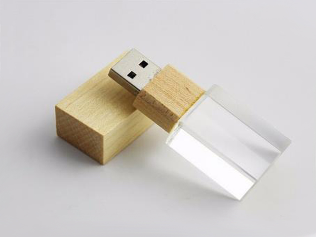 OEM USB2.0 USB3.0 Bamboo Crystal Usb Flash Drive Usb Memory Stick For Promotional Gifts